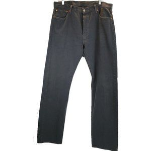 Levis Gray 501 Original Shrink to Fit Button Fly